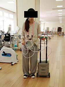 (c)補助人工心臓装着中のリハビリ