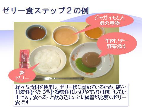 ゼリー食ステップ2の例